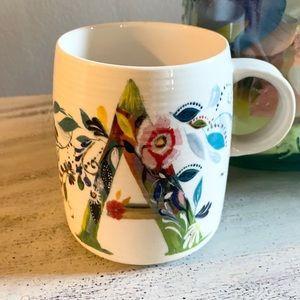 "Anthropologie Starla Halfmann ""A"" Mug"